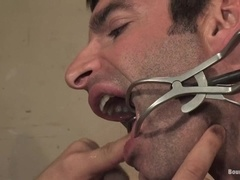 Luka gets suspended and fucked by horny faggot Rod Barry
