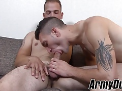 Cute Chase and Scott Millie hammering hard in hotel room