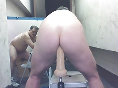 Joey moaning and showing juicy butthole machine anal