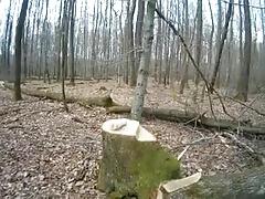 Wank In Wood 4