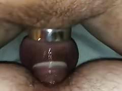 Slut chastity fun