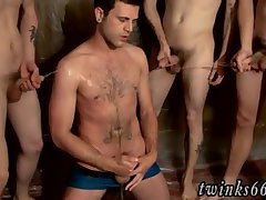 Men masturbating men in urinal video