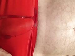 red panty pee