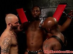 Muscle black hunk spitroasted interracially