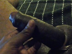BLACK THROBBING PENIS & TIED UP SWOLLEN BALLS!...