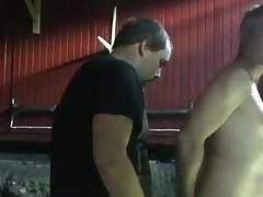 son barebacking dad in barn