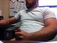 Horny Bear at the Office ( Jerk Off & Cum )