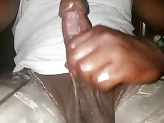 Thickblackoilycock small cum load on kik
