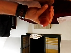 Wanking my cock - Home made video in a hotel room.