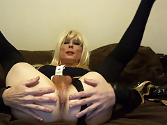 Sexy Tasha Blond Stewardess Dirty Talk Crossdresser