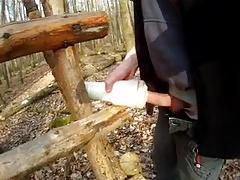 Wank In Wood 3