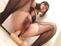 Asian slut yuki sissygasms with toys