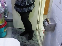 Black Patent Pumps with Pantyhose Teaser 28