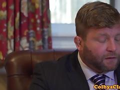 Office jock bangs twink after job interview