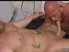 Muscular gay matures having fun