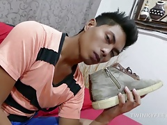Asian Twink Josh Foot Fetish Jerk Off