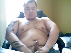 Horny Cub Blows a Huge Load