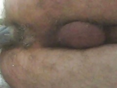 Me at home,alone with a home made butt plug