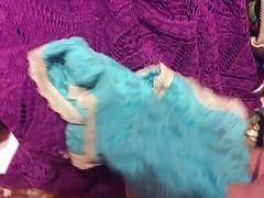 Cum on twin's lacey undies