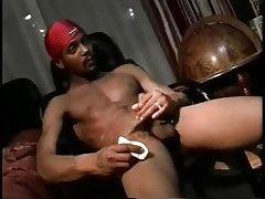 Black Thug Whacking Off