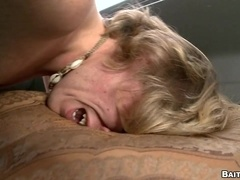 Slutty blonde fairy enjoys doggy style banging in a car