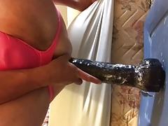 14 inches of Big Black Dildo
