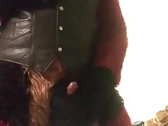 leather fursuit jerkoff