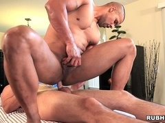 Robert Axel gives massage to Kayden Parker and they make gay love