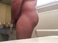 Hairy Service Bear Bathroom Cumshot