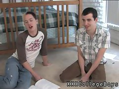 Hot college guys enjoy blowjob