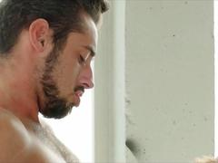 Handsome studs Klein Kerr and Massimo Piano have steamy sex