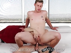 GayCastings First time porn tryout for Rickey Silver