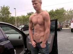 A twink gives a blowjob to his buddy and enjoys it deep doggy style