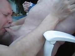 Older men sucking old grandpa's cock