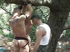 Outdoor Bareback with Pissfuck, Creampie and Felching