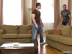 He begins gay play with a stranger