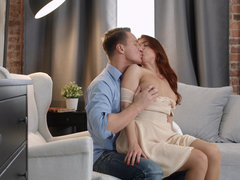 Renata Fox tries kama sutra poses with her man