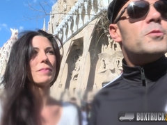 Barcelona fucking - dirty bitch has sex in box truck - Spanish brunette alexa tomas