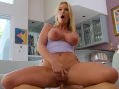 Blonde Rachael Cavalli with big tits and ass has sex with a neighbor