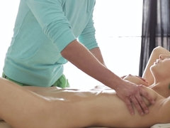 Massage turned into something highly inappropriate and girl loves it