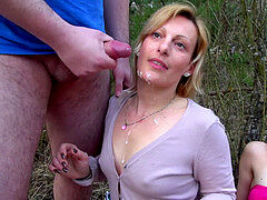 MyFirstPublic - Three nasty dame found in the salami and fucked them all