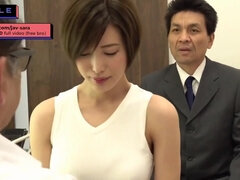 Raunchy japanese housewife shagging old doctor during checkup
