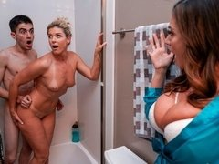 Beautiful FFM with two hot MILFs Ariella Ferrera and India Summer
