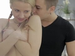 Petite Dana got her tight wet holes deeply fucked by her boyfriend