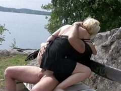 scandi legal teen couple fucks in nature