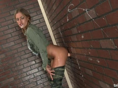 Army chick Silvia is ready for cum shot battle
