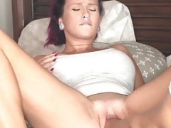 Double Fist-fucking His Hot Wifes Fuck hole