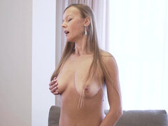 Stunning milf Devina touches her juicy bare fuck hole