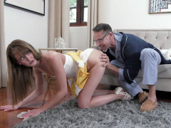 Zoe Sparx gets her ass licked from behind