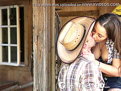 HD FantasyHD - Cowgirl Dani Daniels rides fuckpole at the farm
